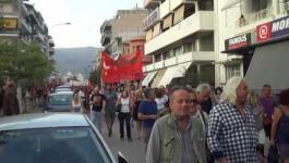 Μεγάλη αντιφασιστική πορεία στην Καλαμάτα