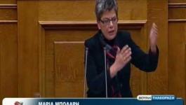 Μαρία Μπόλαρη: Ολομέλεια Βουλής 11/1/2013
