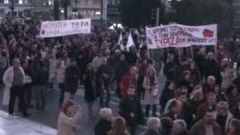 Πορεία Πολυτεχνείου: Το μεγάλο μπλοκ του ΣΥΡΙΖΑ στο Σύνταγμα
